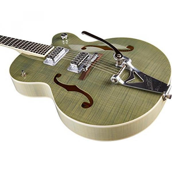 Gretsch Guitars G6120SH Brian Setzer Hot Rod Flame Maple Body Semi-Hollow Electric Guitar Highland Green 2-Tone #5 image