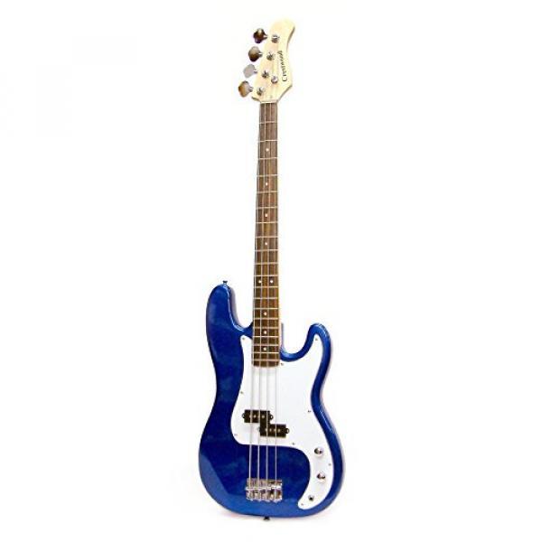 Crestwood Bass Guitar 4 String Metallic Blue P-Style #1 image