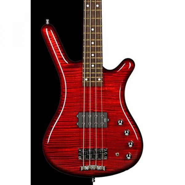 Warwick Custom Shop Corvette $$ Bass, Burgundy Red High Polish, AAAAA Flame, Fretboard LEDs #1 image