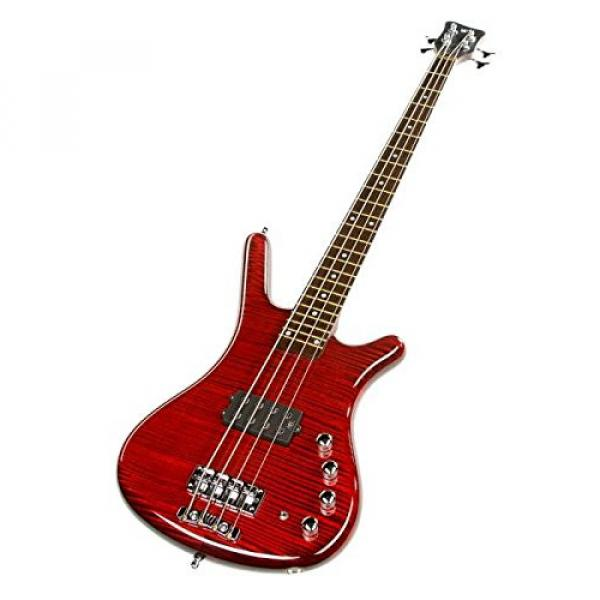 Warwick Custom Shop Corvette $$ Bass, Burgundy Red High Polish, AAAAA Flame, Fretboard LEDs #3 image