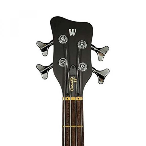 Warwick Custom Shop Corvette $$ Bass, Burgundy Red High Polish, AAAAA Flame, Fretboard LEDs #5 image