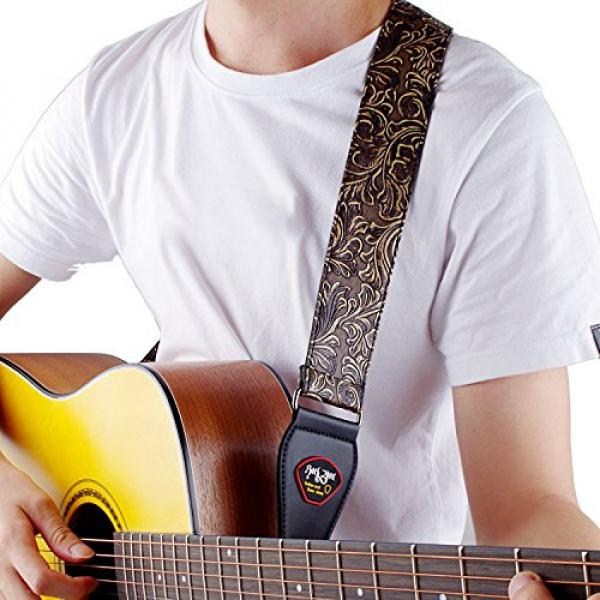 Guitar Strap, Vintage PU Guitar Strap,Wide Adjustment Range and Secure Leather Holes-Suitable for All Ages #6 image