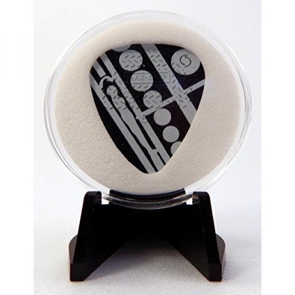 EVH Eddie Van Halen Circle Guitar Pick With MADE IN USA Display Case & Easel #1 image