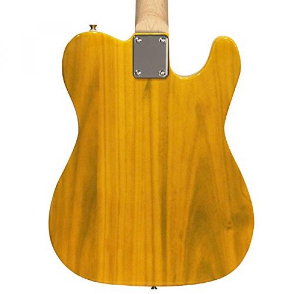 Sawtooth Classic ET 50 Ash Body Left Handed Electric Guitar Butterscotch w/Black pickguard, Case, Cable, Picks, Strap and Tuner #3 image