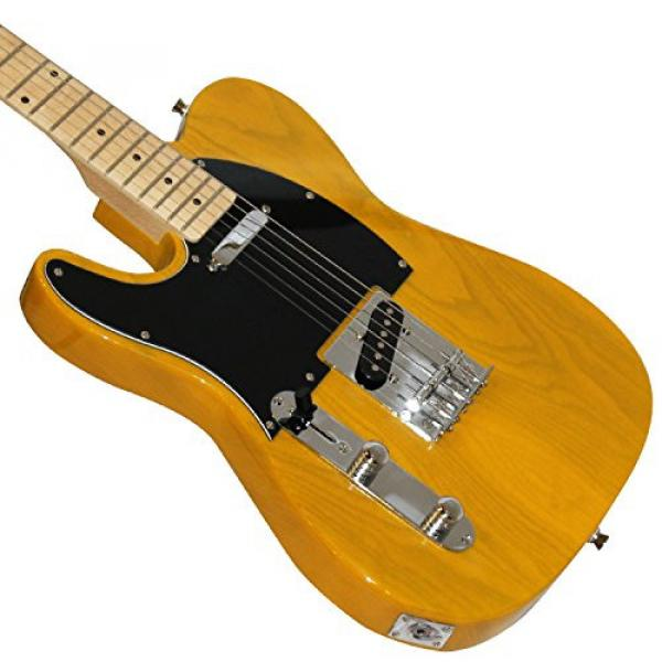 Sawtooth Classic ET 50 Ash Body Left Handed Electric Guitar Butterscotch w/Black pickguard, Case, Cable, Picks, Strap and Tuner #6 image