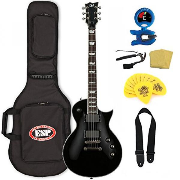 ESP LTD EC-401 Electric Guitar with Gig Bag Bundle, Black #1 image