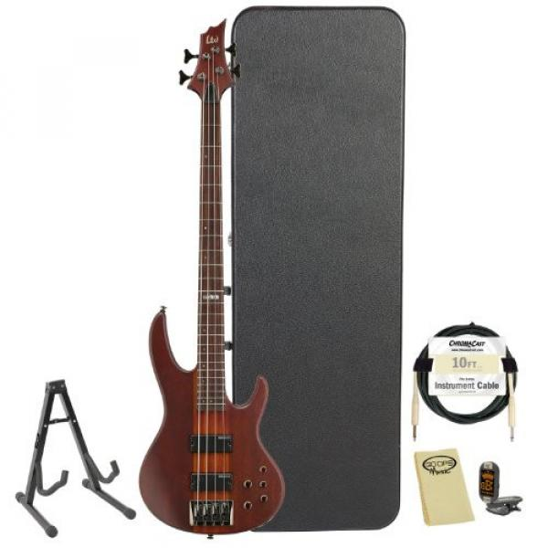 ESP D-4-NS-KIT-2 Natural Satin 4-String Electric Bass with Accessories and Hard Case #1 image