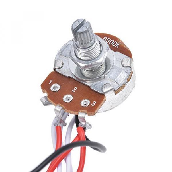 Kmise Electric Guitar Wiring Harness Kit 3 Way Toggle Switch 1v1t 500k Pots For Les Paul LP Parts 1 Set #4 image