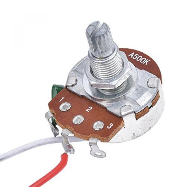 Kmise Electric Guitar Wiring Harness Kit 3 Way Toggle Switch 1v1t 500k Pots For Les Paul LP Parts 1 Set #5 image
