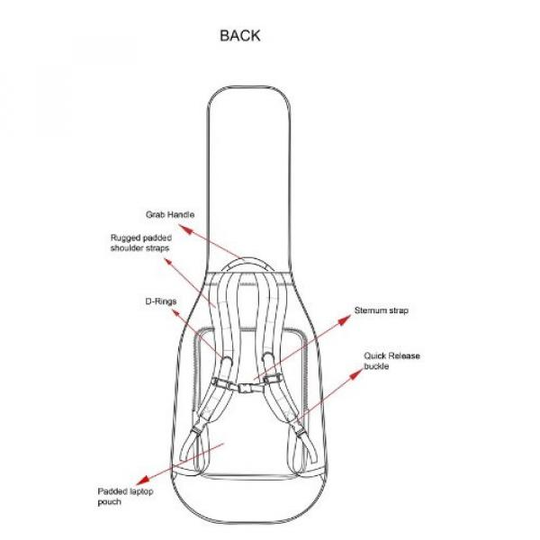 Diamond Tactical TACC-B Single Universal Electric Bass Guitar Gig Bag #4 image