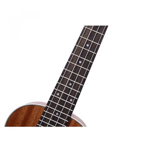 HOT SEAL 23in Guitar Shaped Handmade Carving Dapper Beginners Concerts Ukuleles Uke (23in, Mahogany No.1) #2 image