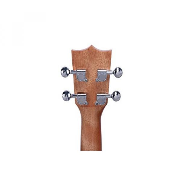 HOT SEAL 23in Guitar Shaped Handmade Carving Dapper Beginners Concerts Ukuleles Uke (23in, Mahogany No.1) #3 image