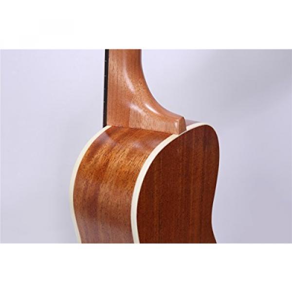 HOT SEAL 23in Guitar Shaped Handmade Carving Dapper Beginners Concerts Ukuleles Uke (23in, Mahogany No.1) #5 image