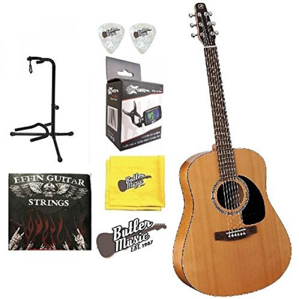 Seagull Acoustic Solid Cedar Top S6 Dreadnought Size #029396 w/Stand & More #1 image