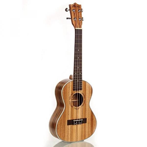 "Greneric 26"" Tenor Ukulele Small Hawaiian Guitar Wood Musical Instruments Zebra Wood+Bag #1 image"