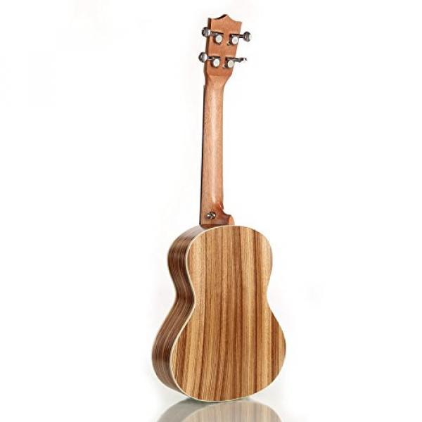 "Greneric 26"" Tenor Ukulele Small Hawaiian Guitar Wood Musical Instruments Zebra Wood+Bag #2 image"
