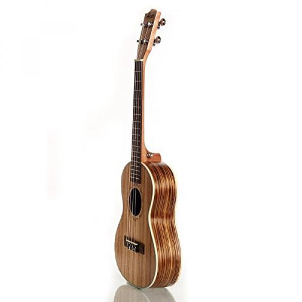 "Greneric 26"" Tenor Ukulele Small Hawaiian Guitar Wood Musical Instruments Zebra Wood+Bag #3 image"