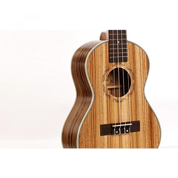 "Greneric 26"" Tenor Ukulele Small Hawaiian Guitar Wood Musical Instruments Zebra Wood+Bag #4 image"