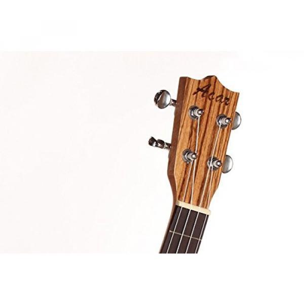 "Greneric 26"" Tenor Ukulele Small Hawaiian Guitar Wood Musical Instruments Zebra Wood+Bag #5 image"