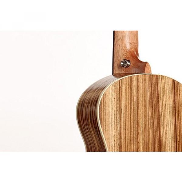 "Greneric 26"" Tenor Ukulele Small Hawaiian Guitar Wood Musical Instruments Zebra Wood+Bag #6 image"