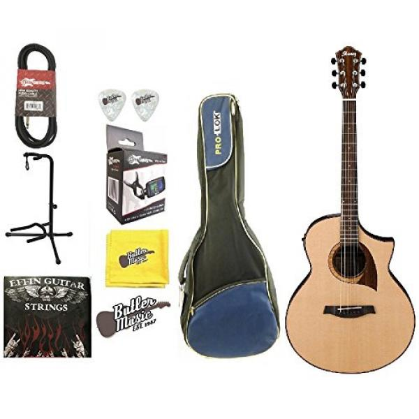 Ibanez Exotic Wood AEW22CD-NT Acoustic/Electric Guitar Padded Gig bag & More #1 image